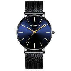 Fashion Mesh Belt Business Watches Men Stainless Steel Quartz Wristwatches Luxury Relogio Masculino Splendid Mens Clock Relojes