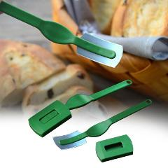 Curved Blades Bread Knife Easy Clean Safe Dough Marker Rustproof With Sheath Rustproof Smooth Lame Bread Knife Kitchen Scoring T