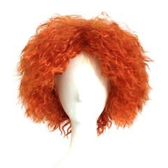 Adult Mad Hatter Cosplay Short Orange Curly Hair Alice In Wonderland Fancy Dress Costume Halloween Carnival Party Accessories