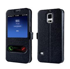 Luxury Smart Front Window View Leather Filp Cover Case for Samsung Galaxy A3 A5 A7 J1 J3 J5 J7 2016 2017 S8 Plus S7 S6 Edge S5