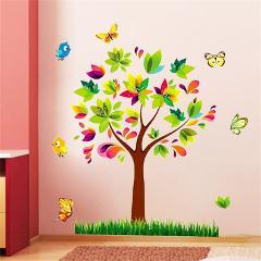 Tree Birds Vinyl Mural DIY Wall Sticker Home Decor Wall Decals For Kids Room Baby Nursery Room Decoration