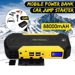 Car Jump Starter Power Bank 89800mAh 12V 4USB Auto Battery Booster Emergency Charger Starting Device with LED Light