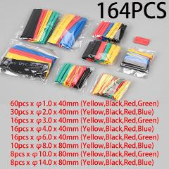 164pcs / 328 PCS / 127pcs / 530 PCS polyolefin sleeve shrink combined heat shrinkable tube insulated cable sleeve 2:1