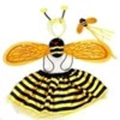 Christmas Halloween Cute Girls Cosplay Bee Costume dress Bee Wings+Tutu Skirts 4 Piece Sets For Kids Stage Performance Costume
