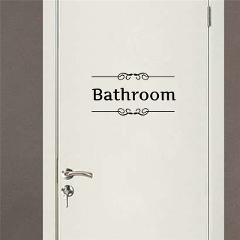 Kitchen Bathroom Bedroom Playroom Office Toilet Entrance Sign Door Stickers For Home Decoration Diy Vinyl Wall Art Quotes Decals