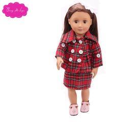 18 inch Girls doll clothes Fashion fall ensemble dress American newborn skirt Baby toys fit 43 cm baby dolls c1