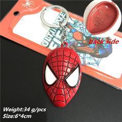 Avengers Keychain New Spider-Man Far From Home Key chains Superhero Mask Pendant Iron Man keyring Man Car Woman Bag Jewelry Gift