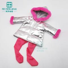 Clothes for doll fit 43cm baby toy new born doll and 45cm American doll Warm coats and suits