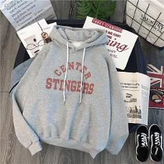 Zuolunouba High Street Knit Hooded Letter Lady Fleece Pullovers Ins Style Add Velvet Thick Sweater Women Autumn Winter Clothes