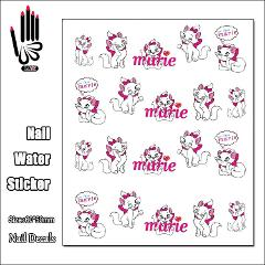 1 Sheet Nail BLE1377 Marie Cartoon Cat Nail Art Water Transfer Sticker Decal Sticker For Nail Art Decoration