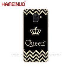 HAMEINUO Queen and king crown Coque cover phone case for Samsung Galaxy J4 J6 J8 A9 A7 2018 A6 A8 2018 PLUS j7 duo protect coque