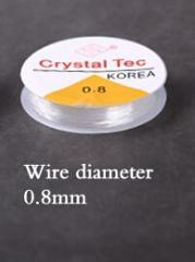 DIY Crystal Beading Stretch Cord Elastic Line 0.7 mm 0.5mm 0.8 mm 1.0 mm Clear Beading Wire/Cord/String/Thread Jewelry Making