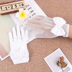 Mesh Satin Lace Gloves Dress Costume Accessories for Girls Ladies Gloves Children Princess Gloves Flower Girl Dresses