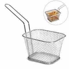 4Pcs/Lot Chips Mini Fry Baskets Stainless Steel Fryer Basket Strainer Serving Food Presentation Cooking Tool French Fries Basket
