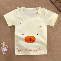 New Cartoon Baby Boys Bear T-Shirts For Summer Infant Kids Short Sleeve Tees Boy Girl Duck T Shirt Clothes Cotton Toddler Tops
