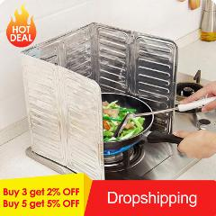 Kitchen Frying Pan Oil Splash Protection Screen Cover Gas Stove Anti Splatter Shield Guard Oil Divider Splash Proof Baffle Tools