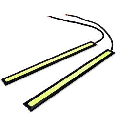 4PCs 17CM LED DRL COB Daytime Running Day Light Auto Lamp Car Styling External Bulb For Universal Car 3 Colors