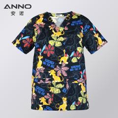 ANNO Hospital Staff Scrubs Top Nursing Uniform for Male Female Dental Clinic Supplies Nurse Women Uniforms Shirt