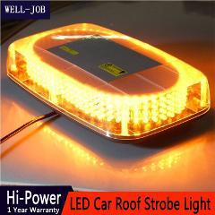 240 LED Amber Yellow Vehicle Car Roof Flashing Strobe Emergency Light Police Beacons Warning Mini Lighting Lamp Bulb