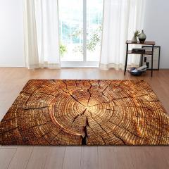 WUJIE Wood Grain Pattern Carpets for Living Room Vintage Striped Area Rugs Large Bedroom Anti-slip Floor Mat Home Decoration