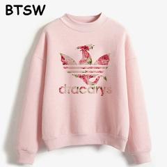 Women New 2019 Fashion Pink Rose Dracarys Dragon Flowers Vintage Graphic Hoddie Harajuku Sweatshirt Sudadera Mujer Sweat Femme