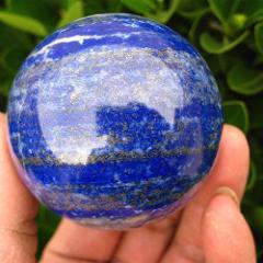 30mm Natural Lapis Lazuli Stone Crystal Sphere Healing Reiki Hand Massage Ball