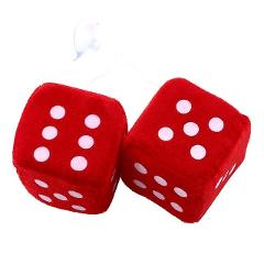1 Pair Fuzzy Dice Dots Rear View Mirror Hangers Car Interior Decoration Car Styling Auto Accessories