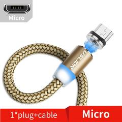 USLION 3M Magnetic Micro USB Cable For Samsung S10 Type-c Charging Charge Magnet Charger Adapter USB Type C Mobile Phone Cables