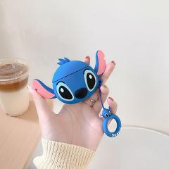 3D Cartoon Cute Stitch Dumbo bluetooth headset Cover For Apple Airpods 2 1 Doll Silicone Earpods Keyring Wireless Earphone box