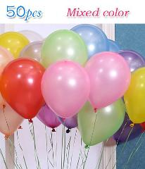 50pcs/lot birthday balloons 1.5g 10inch Latex balloons Gold red pink blue Pearl Wedding Party balloon Ball kids toys air ballons