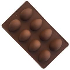 Silicone 8 egg shaped chocolate mold, Easter eggs, ice molds, DIY baking tools