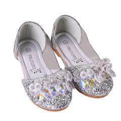 Children Princess Shoes Girls Rhinestone Girls Wedding Party Kids Dress Shoes for Girls Pink / Blue/ Silver Princess shoes