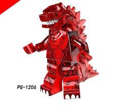 Legoed Cartoon Nuclear monster Gojirasaurus Building Blocks Figures Children Gift Toys