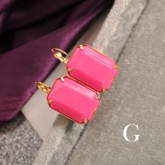 New fashion women, girls, black and white, yellow, purple, red green, gray, ear, hook, geometric Gift Earrings, agent shipping