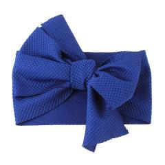 Cute Baby Girls Big Bow Hairband Headband Solid Cotton Stretch Turban Big Knot Head Wrap Headwear Girls Headband 0-3Years
