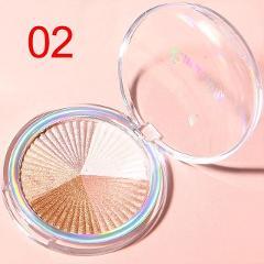 Highlighter Facial  Palette Makeup Glow Kit Face Contour Shimmer Powder Body Base Illuminator Highlight Cosmetics Long Lasting