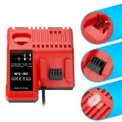 M12 & M18 Rapid Replacement Charger M12-18Fc 12V&18V Xc Lithium Ion Charger For Milwaukee Xc Battery