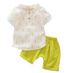 Baby Clothes Cotton Short Sleeve Cartoon Baby Boy Clothe Summer Baby Boy Clothing Set