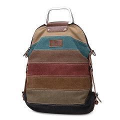 Gradosoo Retro Stripe Women Backpack Canvas Multifunction Patchwork Big  Female Large Capacity School Bags For Teen Girl LBF228