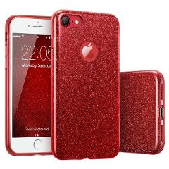3 Layers DropProof Glitter Case for iphone XR XS MAX X 6 7 6S 8 Plus SE 5 5S Full Body ShockProof Armor PC+TPU Protective Cover