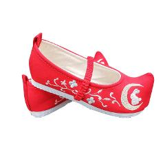Chinese Clothing Ox Horn Shoes Girls Old Beijing Rubber Sole Retro Kindergarten Performance Students Dance Moon Rabbit Toe-up-wa