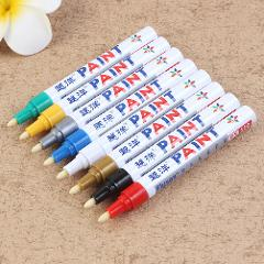 12 colors Waterproof Car Tyre Tire Tread CD Metal Permanent Paint Marker Oily Marker Pens Car Accessories