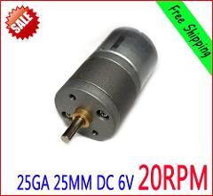 NEW 25MM 25GA Motor 6V DC 20RPM 60mA High Torque Electric Gear Box Motor