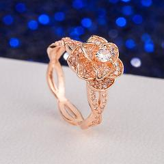 Garland Ring Zircon Elegant Female Anniversary High Quality Exquisite Exclusive Gift Wedding Fashion Temperament Lucky Ring