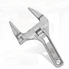 AIRAJ Multi-function Short Handle Universal Wrench Large Opening Bathroom Wrench Adjustable Aluminum Alloy Repair Tool