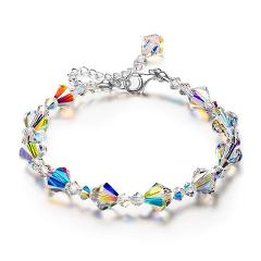Crazy Feng 2019 Trendy Unique Sparkle Crystal Beads Women Bracelets Charm Fashion Engagement Party Jewelry Gifts