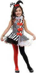 Charades Black & White Jester Costume for Kids