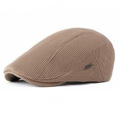 Thick Warm Knitted Flat Cap For Men Fleece Liner Autumn Winter Beret Hat Classic Vintage Advanced Flat Ivy Cap Newsboy Hat