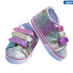 Fashion Sequins Shoes Fits 18 Inch Doll 43CM Dolls Baby Doll DIY Shoes For American Doll Girl Boots Golden Color Random