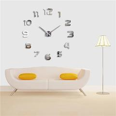 Muhsein 3D DIY Wall Clock Home Decorate Clocks Big Number Watch Acrylic Mirror Wall Sticker Clock Mute Movement Free Shipping